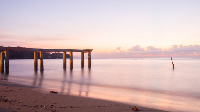 foto landscape dengan teknik slow speed