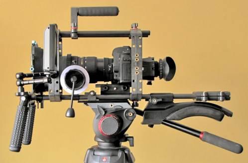 Canon 5D Mark II di atas Tripod